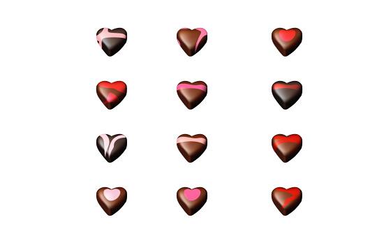Скачать Chocolate Hearts Icons