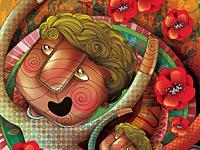 Многоцветный мультяшный хаос в исполнении иллюстратора Anna Anjos