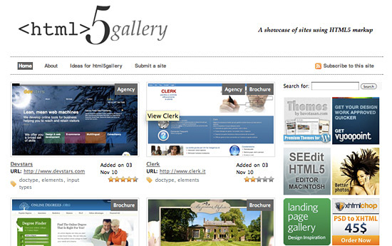 Перейти на HTML5 Gallery