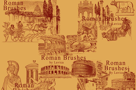 Скачать Roman Photoshop Brushes