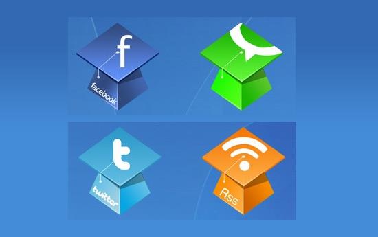 Скачать Hat Social Icons By Land Of Web