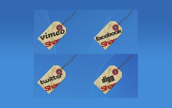 Скачать Hang Tag Social Icons By Land Of Web