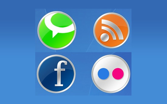 Скачать Round Social Icons By Land Of Web