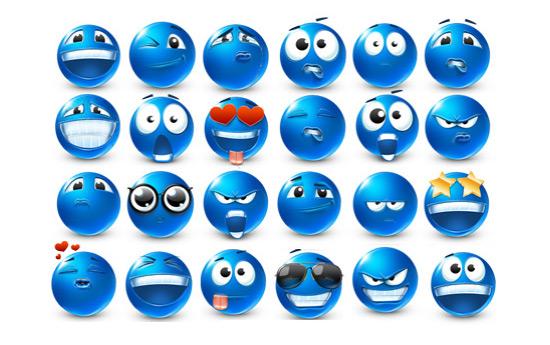 Скачать Emoticons 40 Smilies Icons