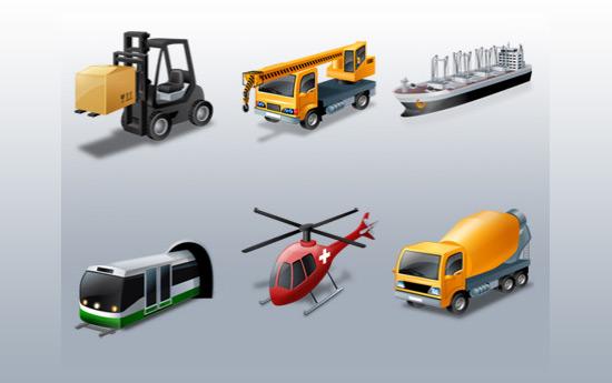 Скачать Vista Style Transport Icon Set