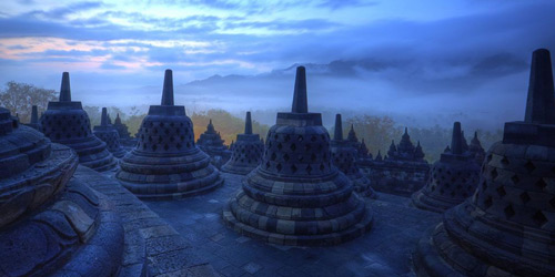 Перейти на Temple of Borobudur, Indonesia