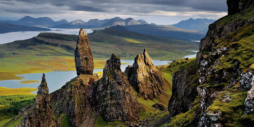 Перейти на Basalt Pinnacles, Scotland