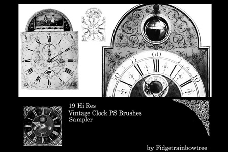 Скачать Vintage Clocks PS Brush Sample