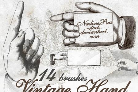 Скачать Vintage hand