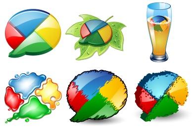 Скачать Google Buzz Icons By Iconshock