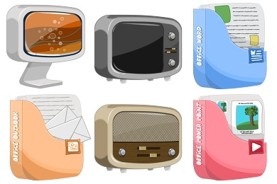 Скачать Cartoon Icons By Robsonbillponte