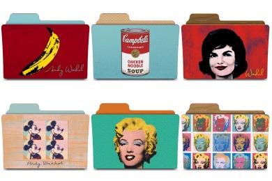Скачать Warhol Folders Icons By Rebelheart