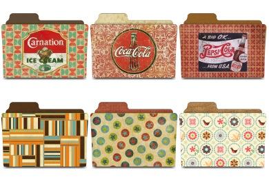 Скачать Vintage Folders Icons By Rebelheart