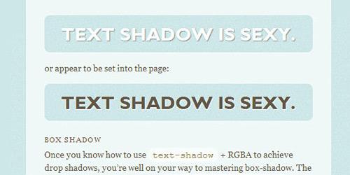 Посмотреть демо CSS3 Text Shadows