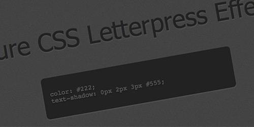 Посмотреть демо Create a Letterpress Effect