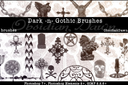 Скачать Dark N Gothic PS Brushes
