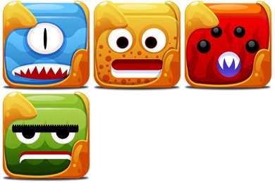 Скачать Block Creatures Icons By Fasticon