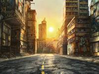 Апокалиптические панорамы и городские зарисовки художника Jonas De Ro