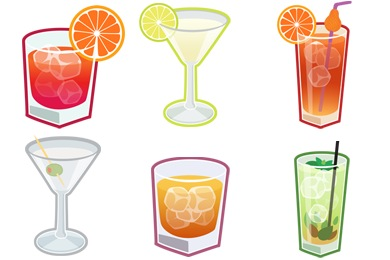 Скачать Cocktails Icons By Cedarseed