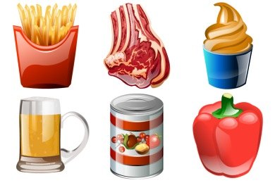 Скачать Brilliant Food Icons By Iconshock