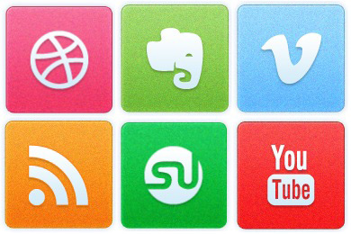 Скачать Clean Noise Social Icons