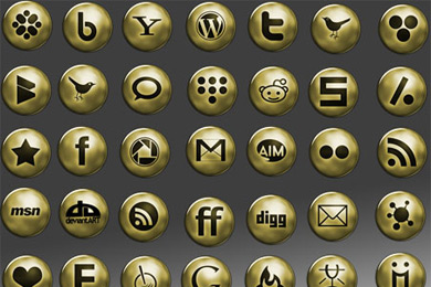 Скачать Network Gold Icons