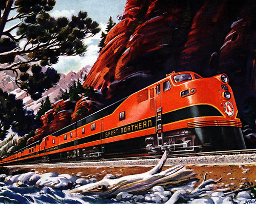 Перейти на The New Empire Builder Great Northern Railway, 1946
