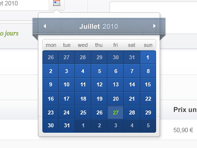 Перейти на Calendar Overlay