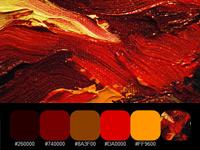 20 готовых цветовых палитр с текстурных красочных разводов на холсте