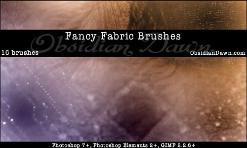 Скачать Fancy Fabric Photoshop Brushes