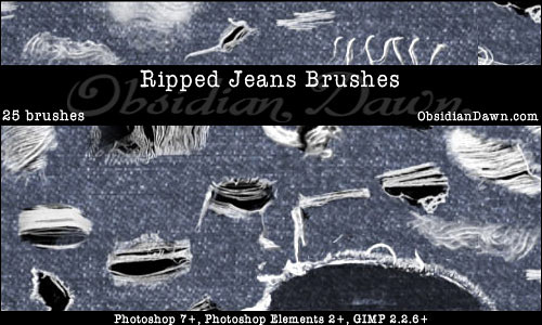 Скачать Ripped Torn Jeans Brushes