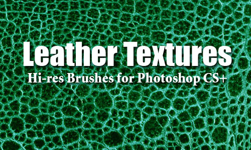 Скачать 10 Leather Textures PS Brushes