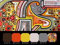 20 готовых цветовых палитр с красочных взрывных работ Matt W. Moore