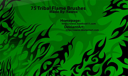Скачать 75 Tribal Flame Brushes