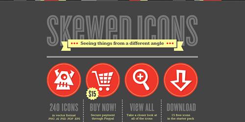 Перейти на Skewed Icons