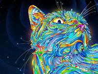 Горящие цветные линии в нереальных работах иллюстратора Matei Apostolescu