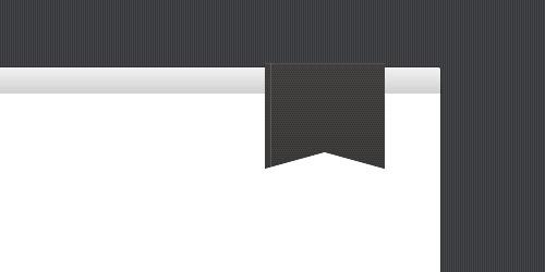 Создаем в фотошопе флажок, свешивающийся с края страницы