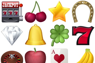 Скачать Casino Icons By Designcontest
