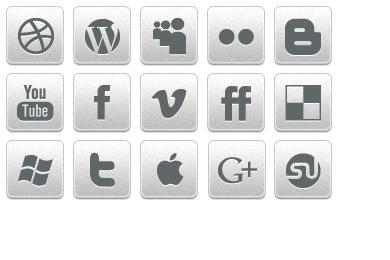 Скачать Black White Social Icons By Creativenerds