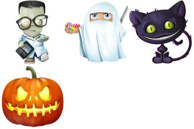 Скачать Halloween Icons By Yootheme