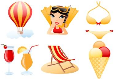 Скачать Beach Icons By Dapino