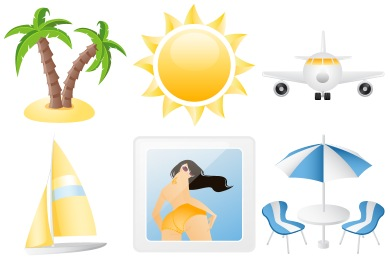Скачать Summer Holiday Icons By Dapino