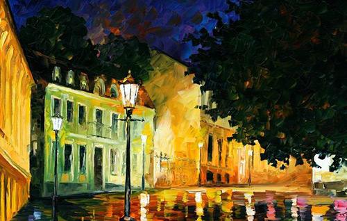 Восхитительные городские пейзажи в ярких работах Леонида Афремова