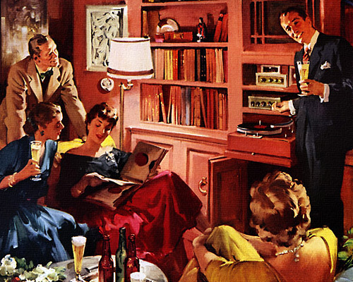 When you're having friends over, 1956