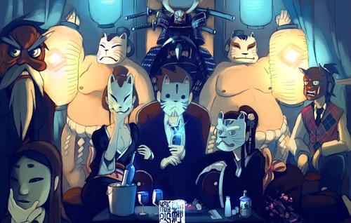 Динамичные персонажи комиксов от иллюстратора Takeru San