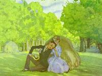 Гротескные балы и маскарады на картинах художника Константина Сомова