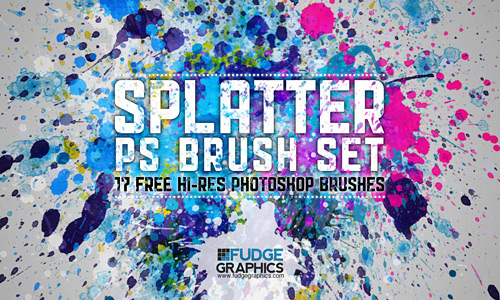 Скачать Hi Res Splatter PS Brush Set