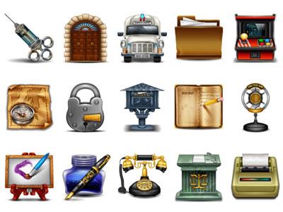 Скачать Vintage Web Icons.Php