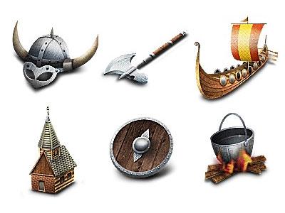 Скачать Viking Icons By Poseit