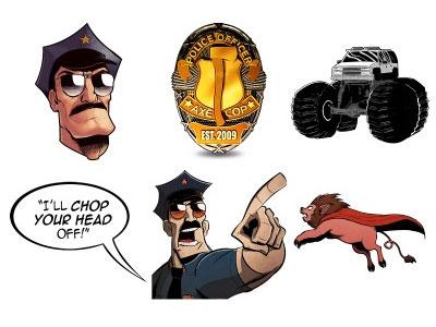 Скачать Axe Cop Icons By Michael Beach